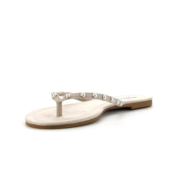 0ade952f9b9 Nude Pearl Thong Sandals